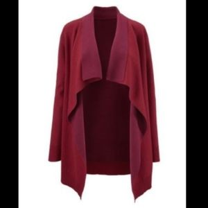 Cabi Cozy Up Cardigan Red Open Draping Sz L